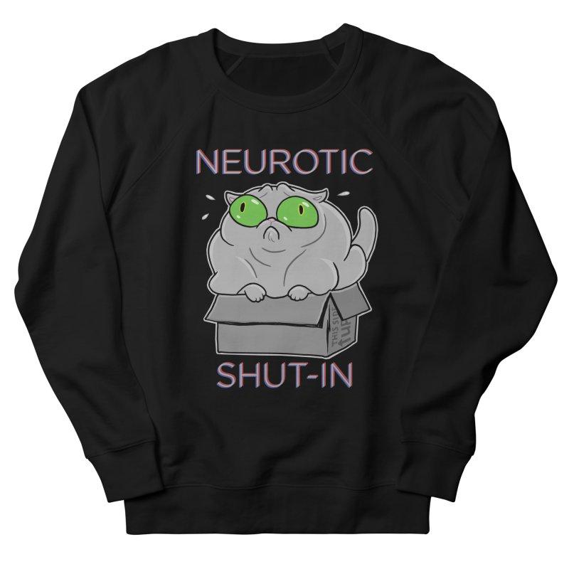Neurotic Shut-In Men's French Terry Sweatshirt by Frankenstein's Artist Shop