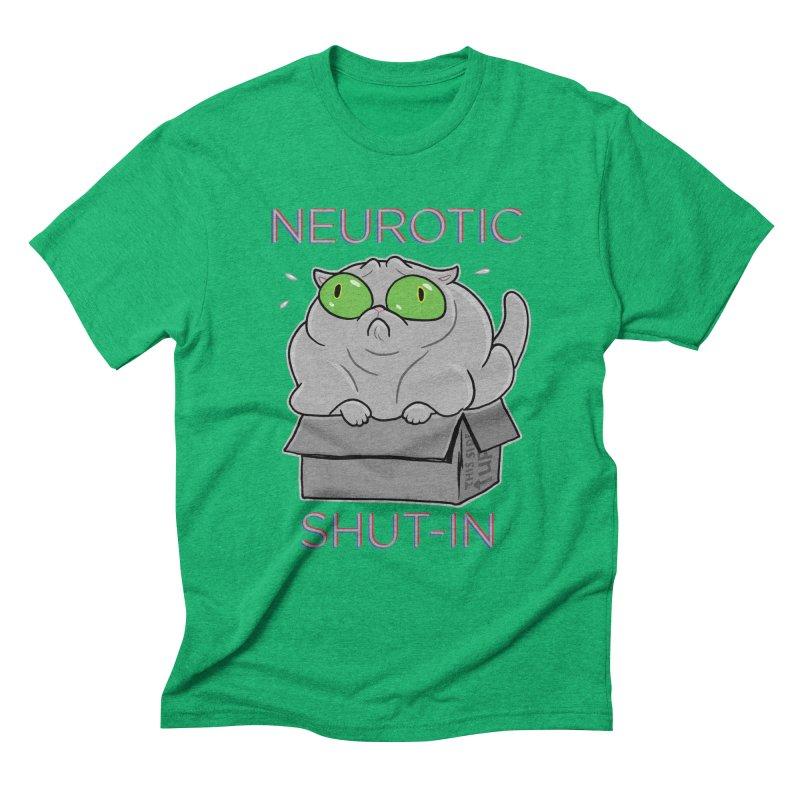 Neurotic Shut-In Men's Triblend T-Shirt by Frankenstein's Artist Shop