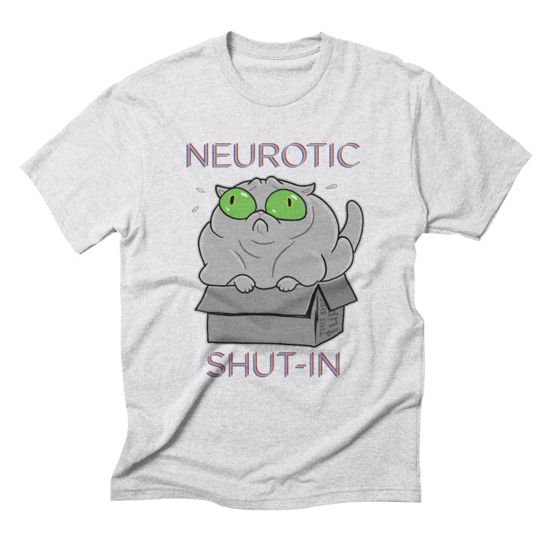 Neurotic Shut-In Men's Triblend T-Shirt by Frankenstein's Artist Shop