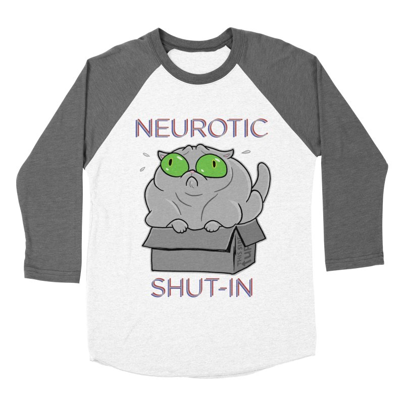 Neurotic Shut-In Women's Baseball Triblend Longsleeve T-Shirt by Frankenstein's Artist Shop