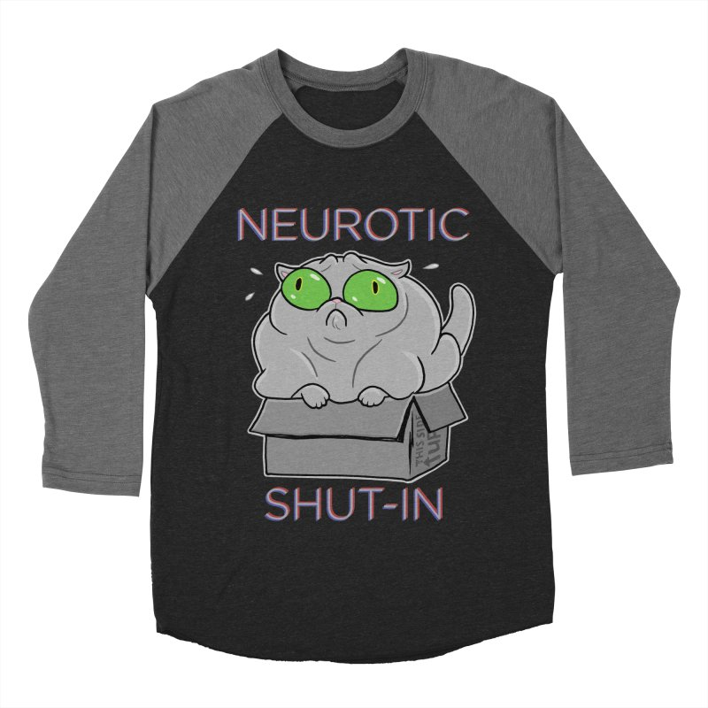 Neurotic Shut-In Men's Baseball Triblend T-Shirt by Frankenstein's Artist Shop