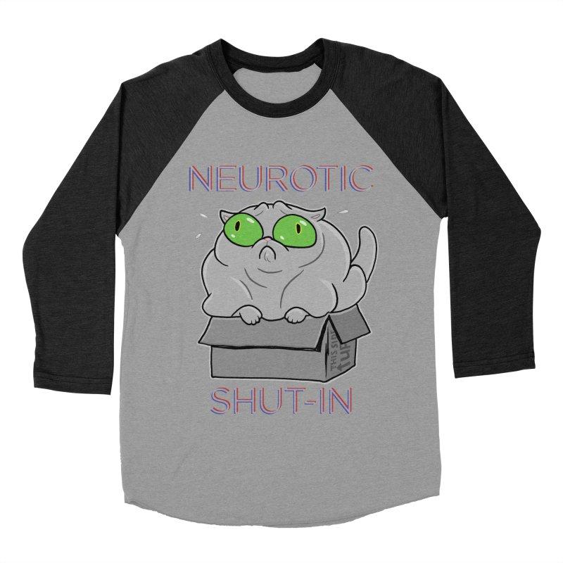 Neurotic Shut-In Men's Baseball Triblend Longsleeve T-Shirt by Frankenstein's Artist Shop