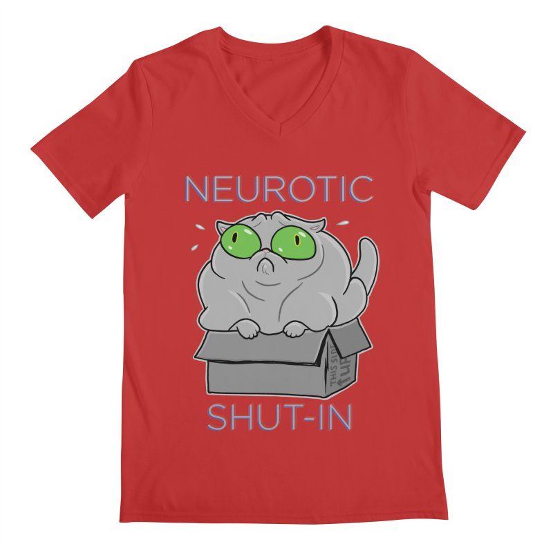 Neurotic Shut-In Men's Regular V-Neck by Frankenstein's Artist Shop