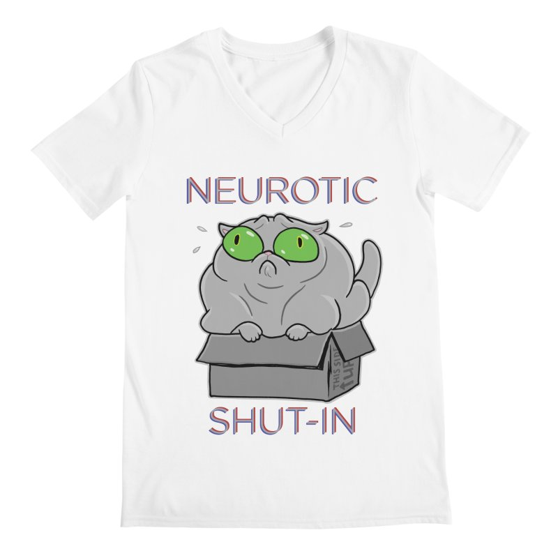 Neurotic Shut-In Men's V-Neck by Frankenstein's Artist Shop