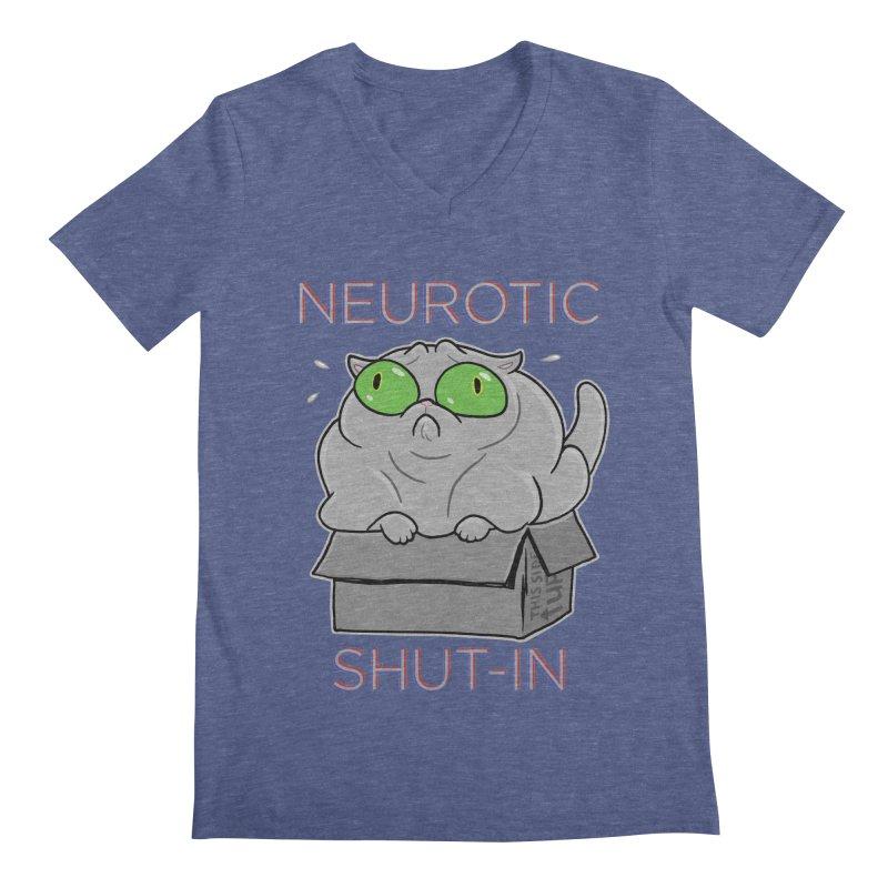 Neurotic Shut-In Men's Regular V-Neck by Frankenstein's Artist Shop