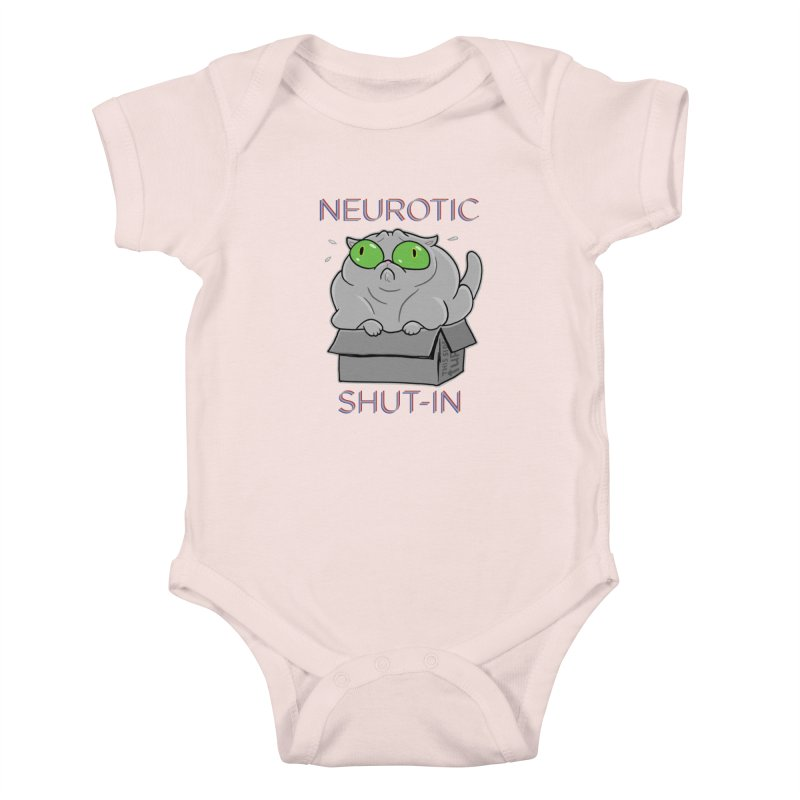 Neurotic Shut-In Kids Baby Bodysuit by Frankenstein's Artist Shop