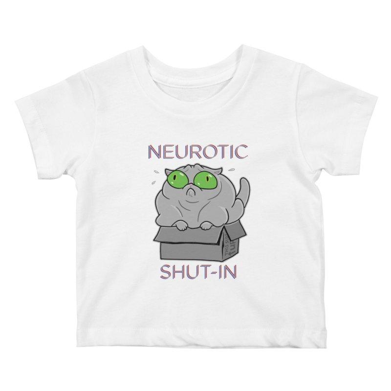 Neurotic Shut-In Kids Baby T-Shirt by Frankenstein's Artist Shop