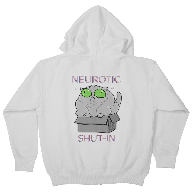 Neurotic Shut-In Kids Zip-Up Hoody by Frankenstein's Artist Shop