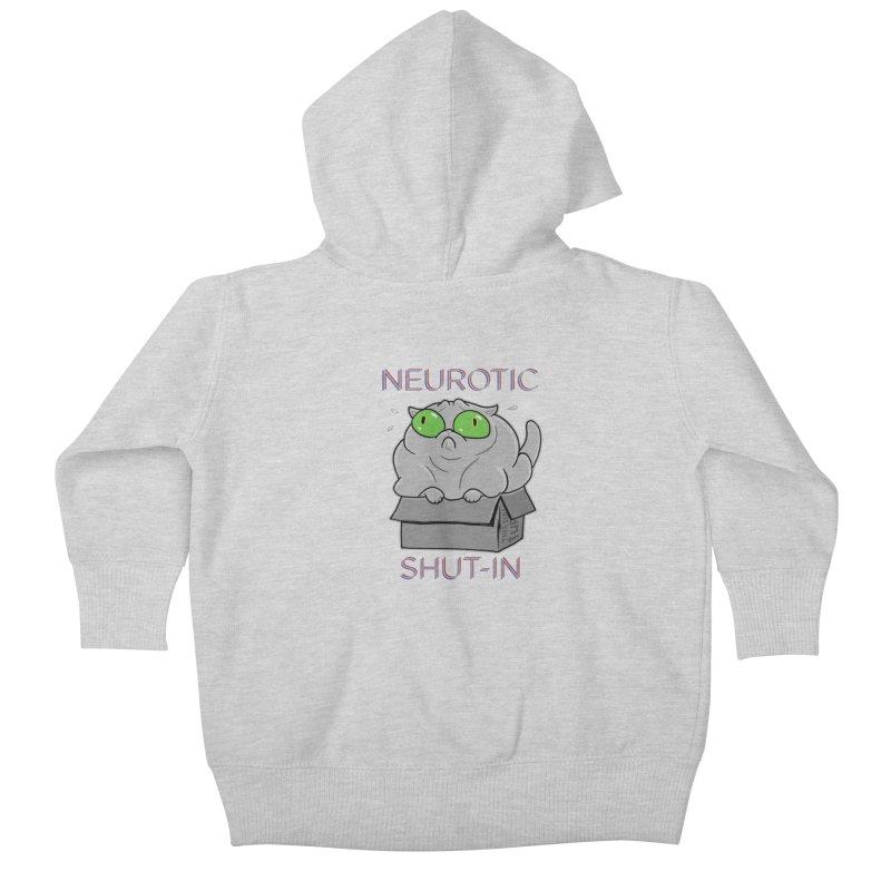 Neurotic Shut-In Kids Baby Zip-Up Hoody by Frankenstein's Artist Shop