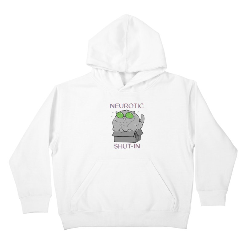 Neurotic Shut-In Kids Pullover Hoody by Frankenstein's Artist Shop