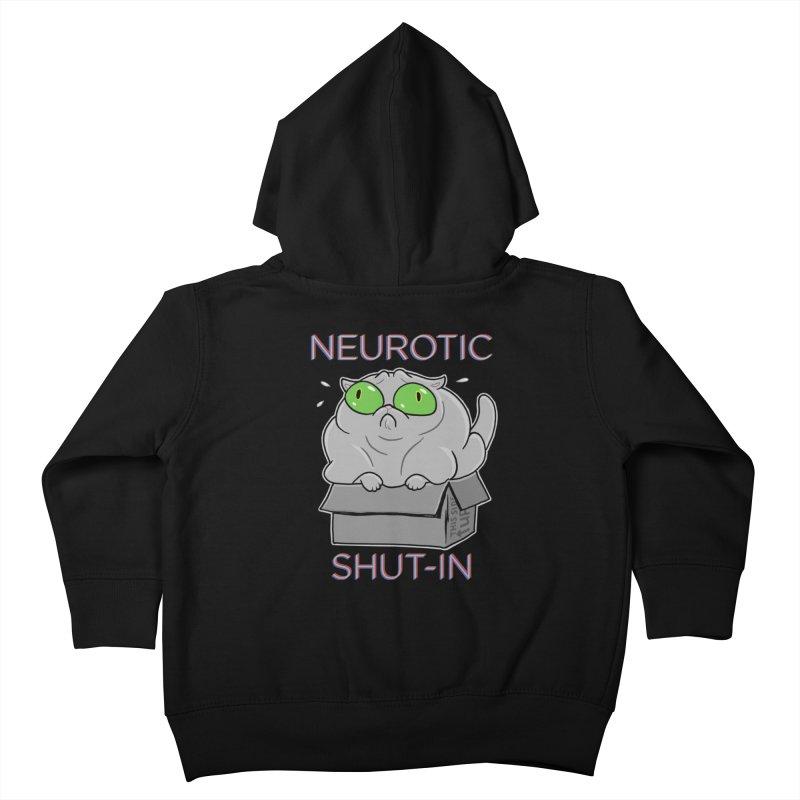 Neurotic Shut-In Kids Toddler Zip-Up Hoody by Frankenstein's Artist Shop