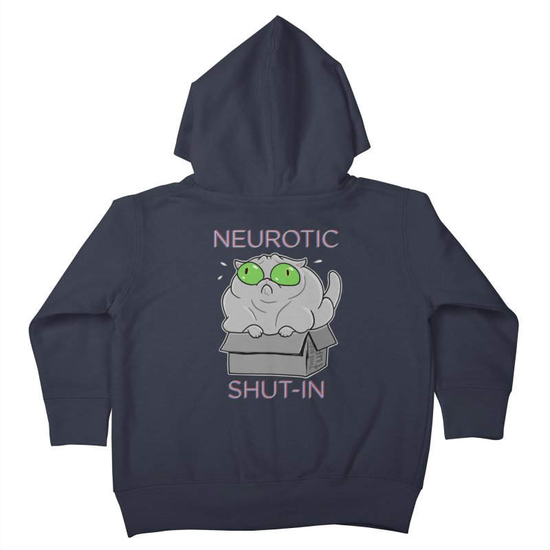 Neurotic Shut-In Kids Toddler Zip-Up Hoody by Frankenstein's Artist Shop