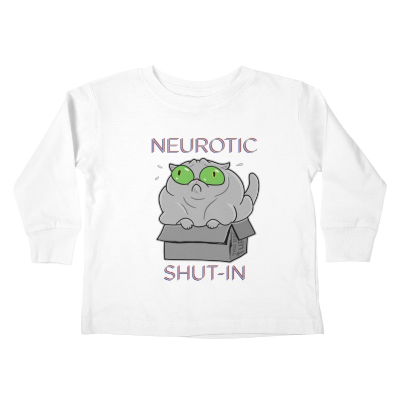 Neurotic Shut-In Kids Toddler Longsleeve T-Shirt by Frankenstein's Artist Shop