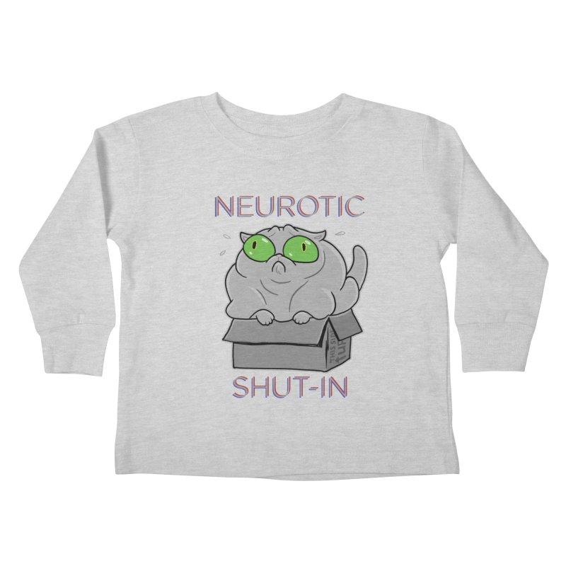 Neurotic Shut-In Kids Toddler Longsleeve T-Shirt by Frankenstein's Artist Shop