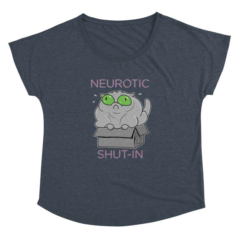 Neurotic Shut-In Women's Dolman Scoop Neck by Frankenstein's Artist Shop