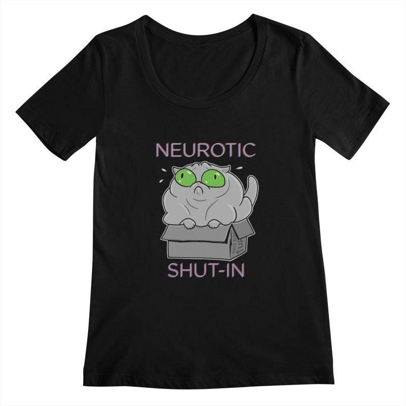 Neurotic Shut-In Women's Scoopneck by Frankenstein's Artist Shop