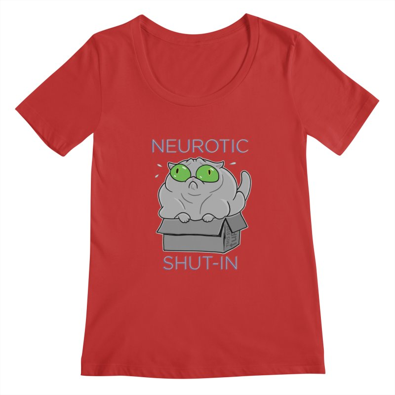Neurotic Shut-In Women's Regular Scoop Neck by Frankenstein's Artist Shop