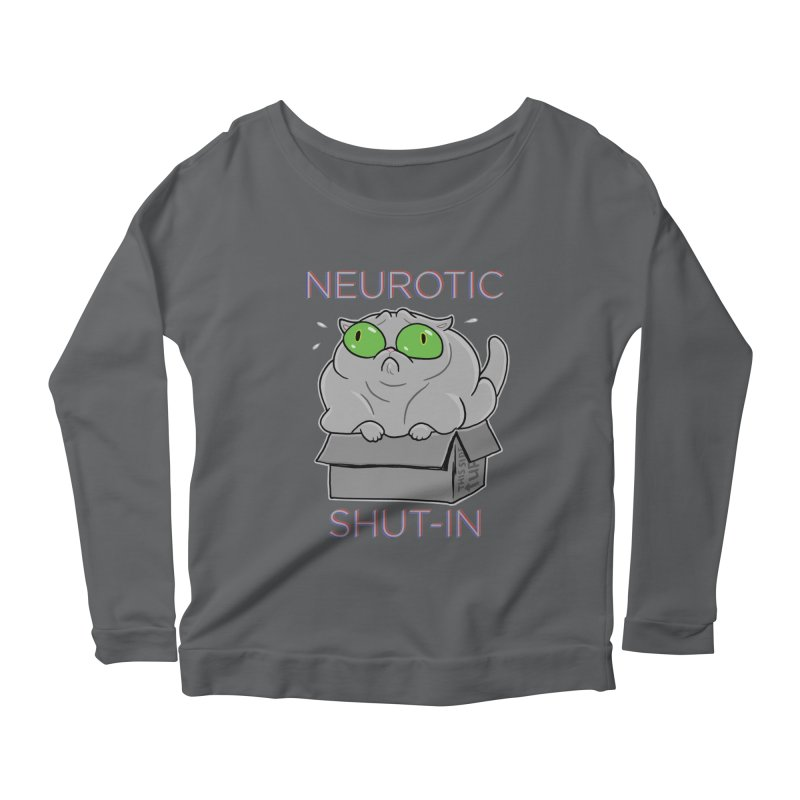 Neurotic Shut-In Women's Scoop Neck Longsleeve T-Shirt by Frankenstein's Artist Shop
