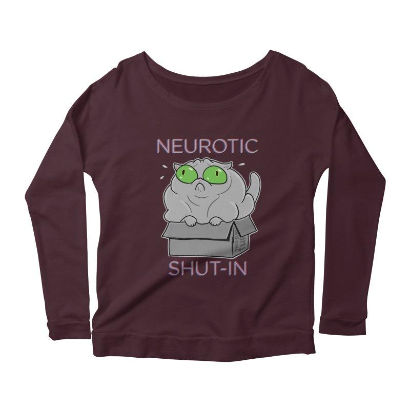 Neurotic Shut-In Women's Longsleeve Scoopneck  by Frankenstein's Artist Shop