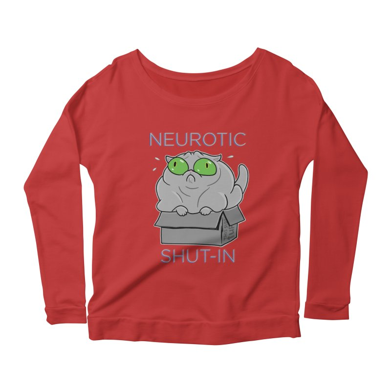 Neurotic Shut-In Women's Scoop Neck Longsleeve T-Shirt by Frankenstein's Artist Shop
