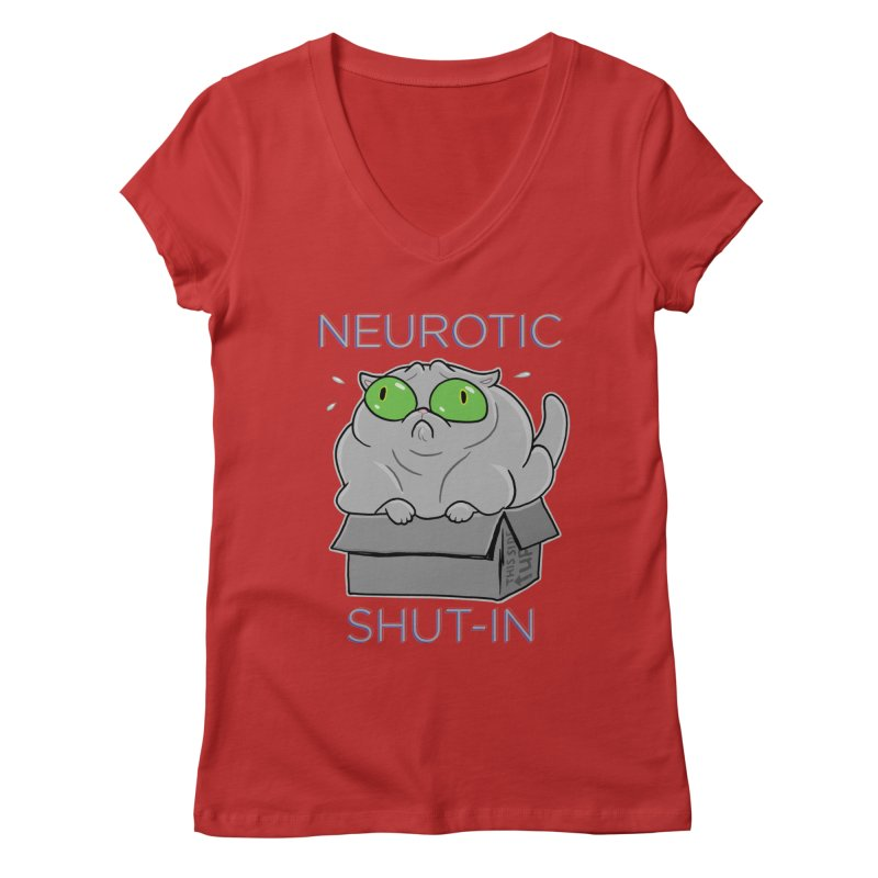 Neurotic Shut-In Women's Regular V-Neck by Frankenstein's Artist Shop