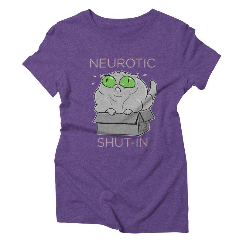 Neurotic Shut-In Women's Triblend T-Shirt by Frankenstein's Artist Shop