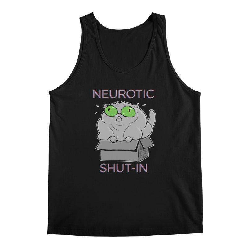 Neurotic Shut-In Men's Tank by Frankenstein's Artist Shop