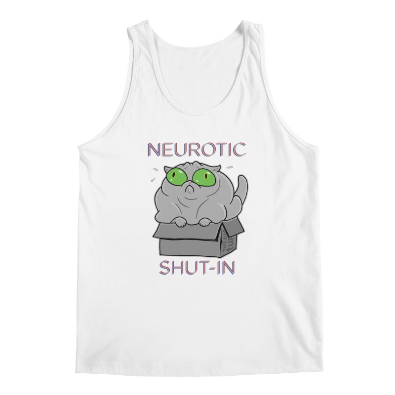 Neurotic Shut-In Men's Regular Tank by Frankenstein's Artist Shop