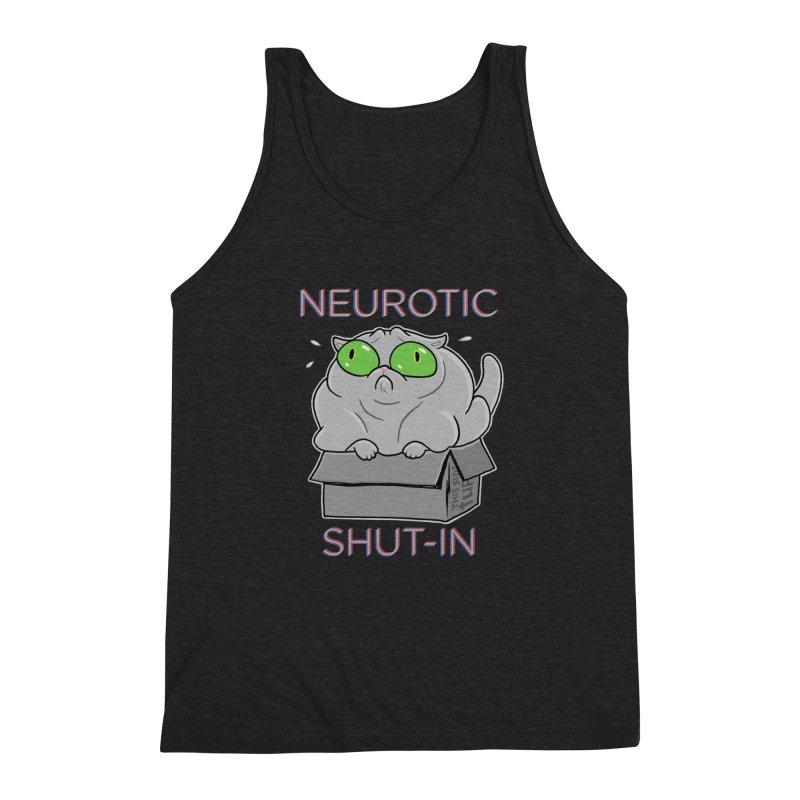 Neurotic Shut-In Men's Triblend Tank by Frankenstein's Artist Shop