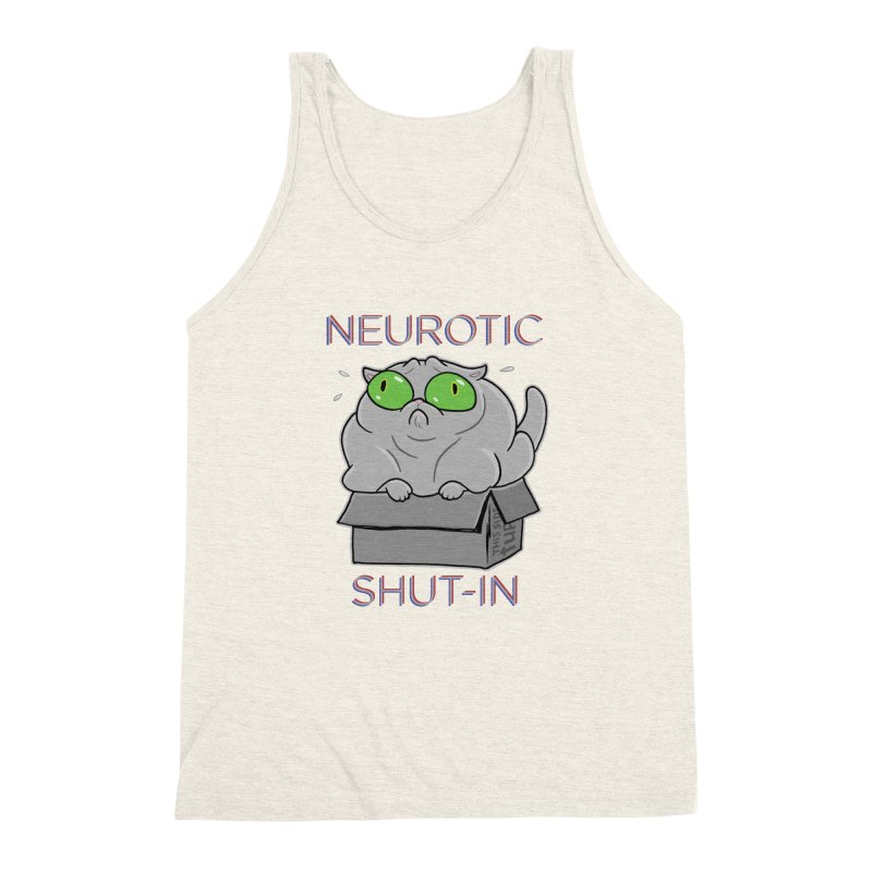 Neurotic Shut-In Men's Triblend Tank by Frankenstein's Artist Shop