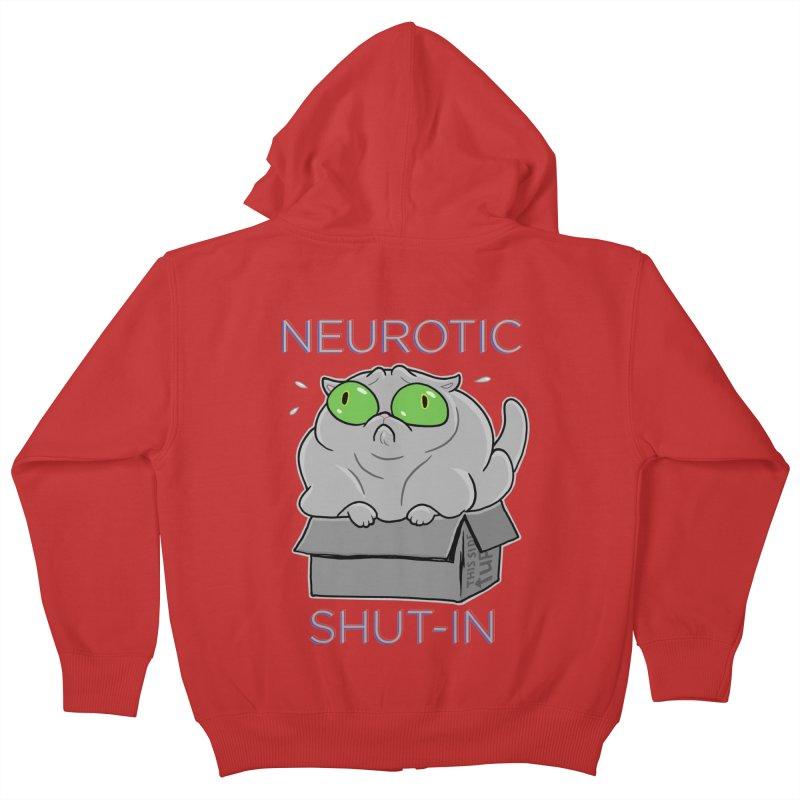 Neurotic Shut-In Kids Zip-Up Hoody by Frankenstein's Artist Shop