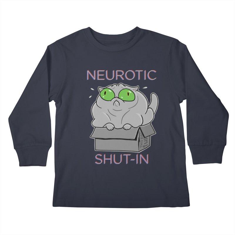 Neurotic Shut-In Kids Longsleeve T-Shirt by Frankenstein's Artist Shop