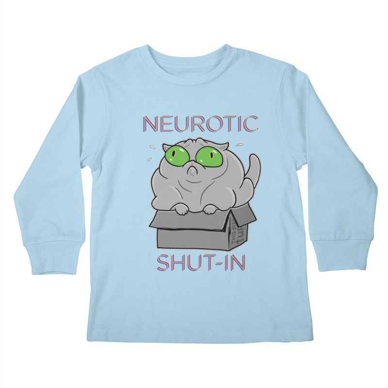 Neurotic Shut-In Kids Longsleeve T-Shirt by Frankenstein's Artist Shop