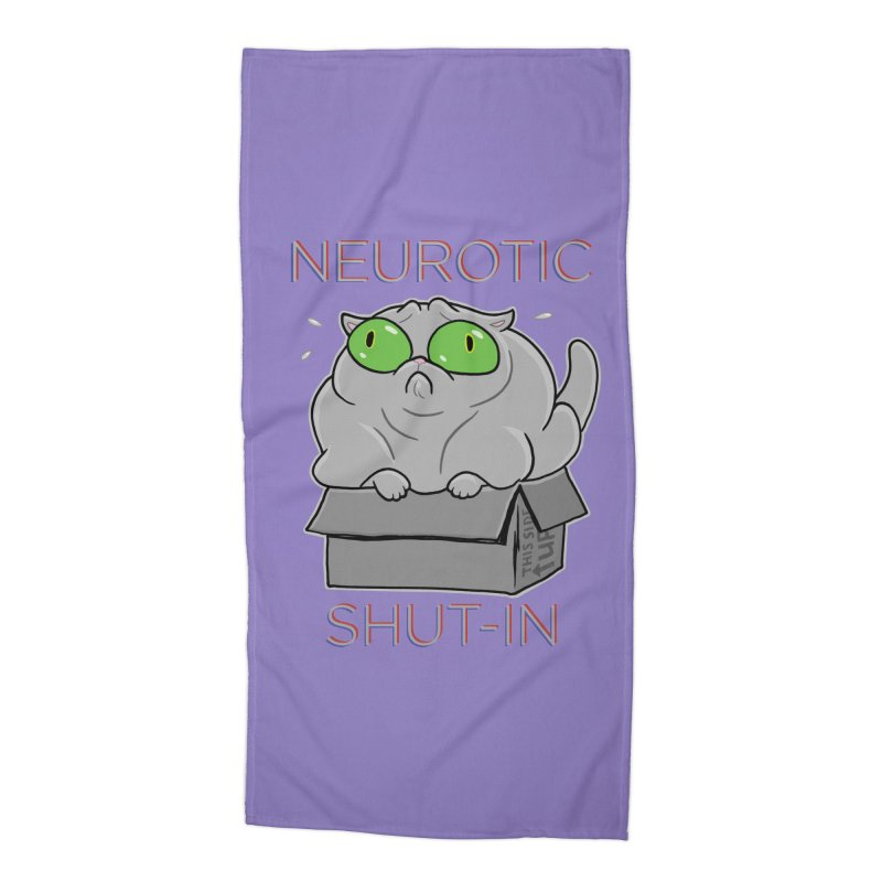 Neurotic Shut-In Accessories Beach Towel by Frankenstein's Artist Shop