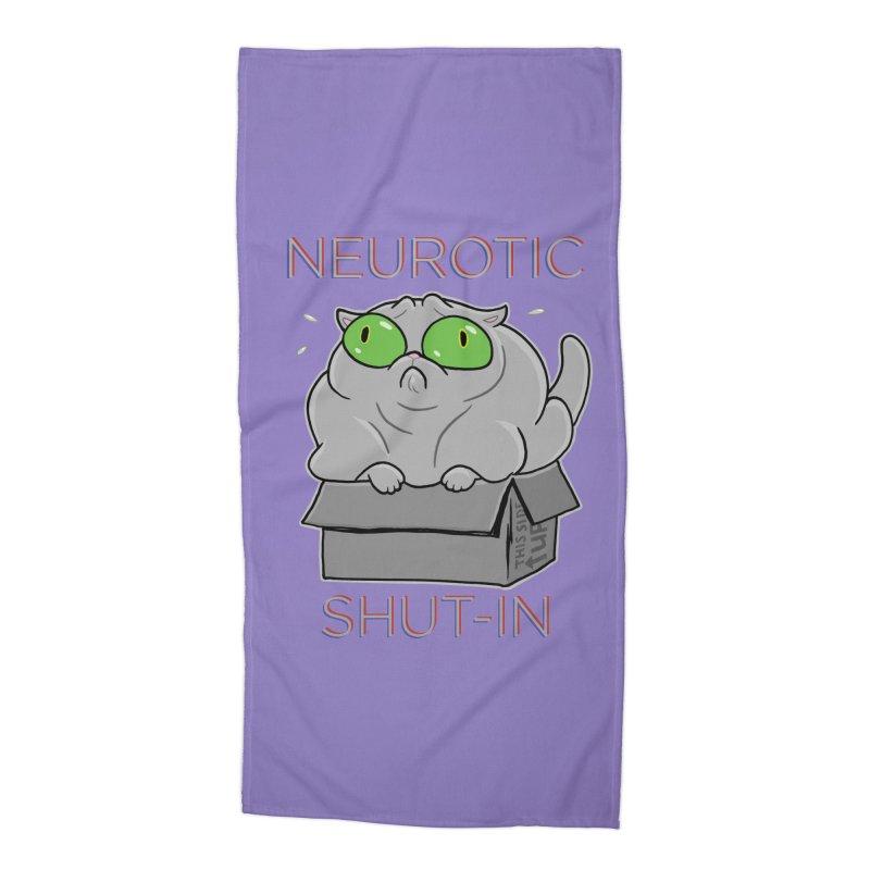 Neurotic Shut-In Accessories Beach Towel by Frankenstein's Artist Shop