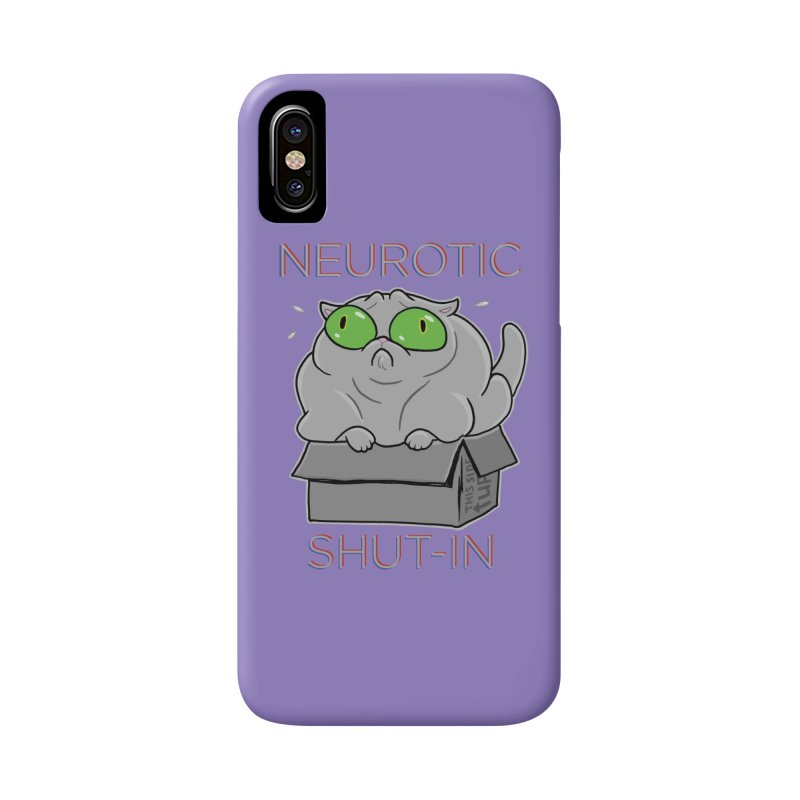 Neurotic Shut-In Accessories Phone Case by Frankenstein's Artist Shop