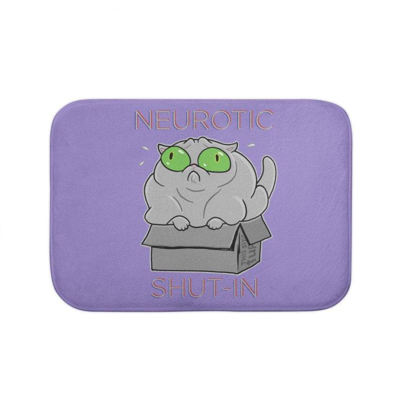 Neurotic Shut-In Home Bath Mat by Frankenstein's Artist Shop