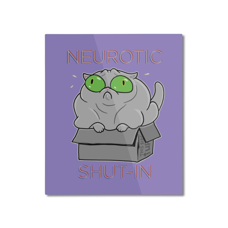 Neurotic Shut-In Home Mounted Aluminum Print by Frankenstein's Artist Shop