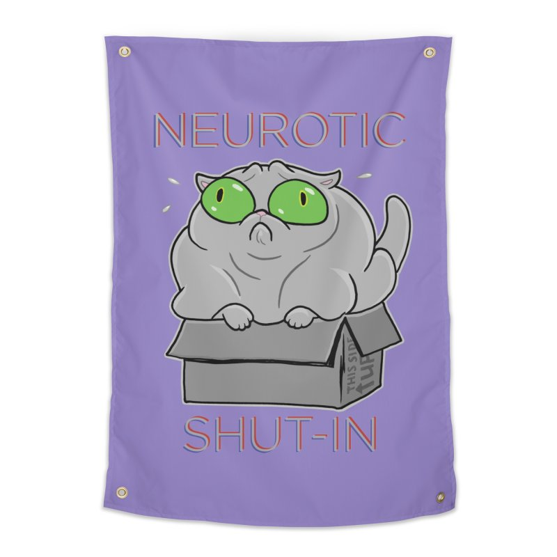 Neurotic Shut-In Home Tapestry by Frankenstein's Artist Shop