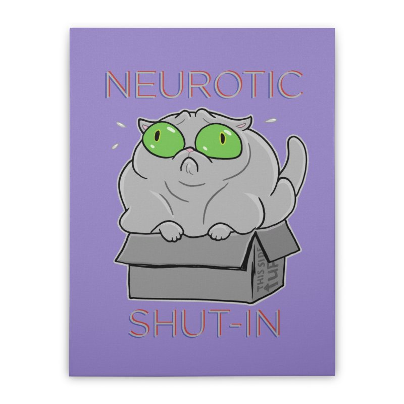 Neurotic Shut-In Home Stretched Canvas by Frankenstein's Artist Shop