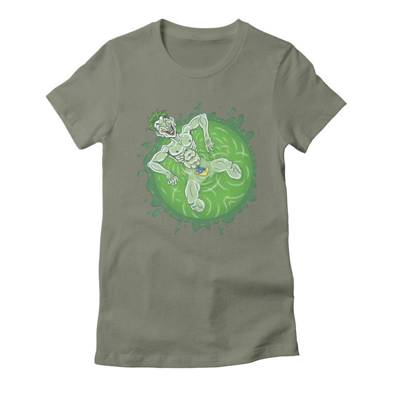 Acid Bath Women's Fitted T-Shirt by Frankenstein's Artist Shop