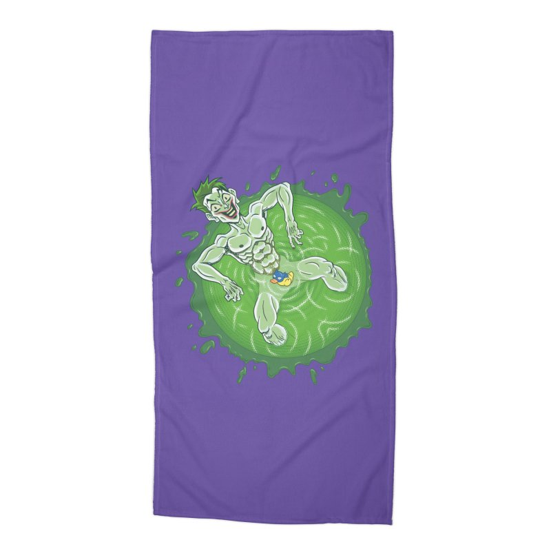 Acid Bath Accessories Beach Towel by Frankenstein's Artist Shop