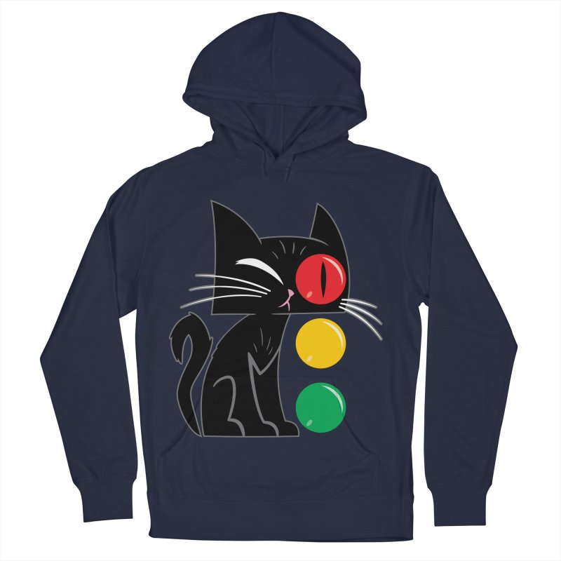 STOP! Cat Men's French Terry Pullover Hoody by Frankenstein's Artist Shop