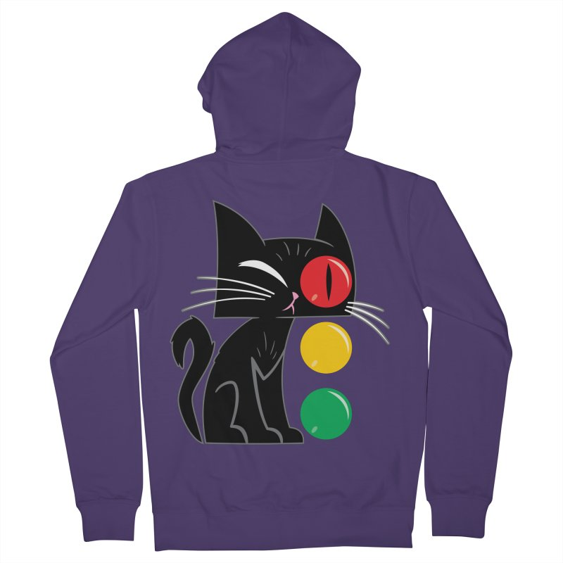 STOP! Cat Women's Zip-Up Hoody by Frankenstein's Artist Shop