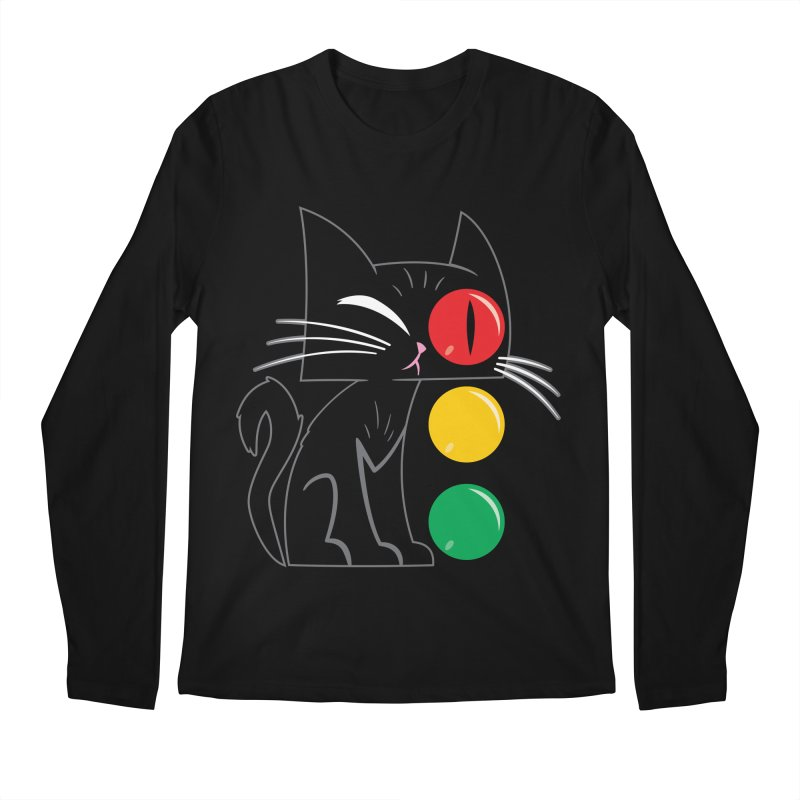 STOP! Cat Men's Regular Longsleeve T-Shirt by Frankenstein's Artist Shop