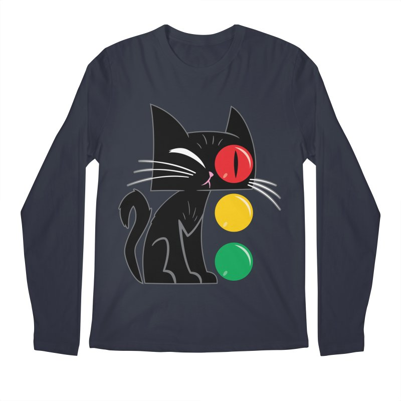 STOP! Cat Men's Longsleeve T-Shirt by Frankenstein's Artist Shop