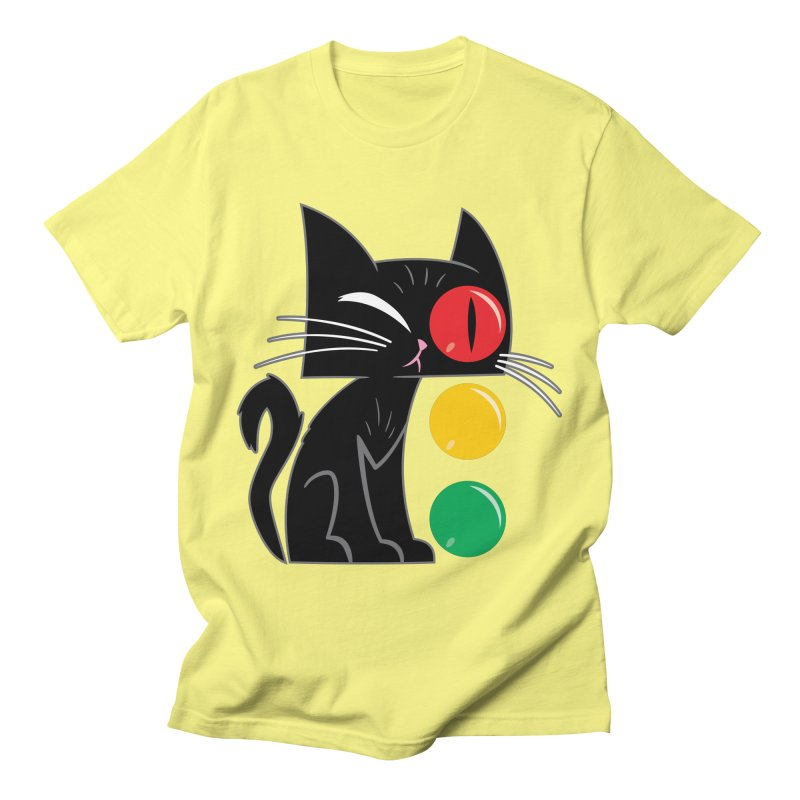 STOP! Cat Women's Regular Unisex T-Shirt by Frankenstein's Artist Shop