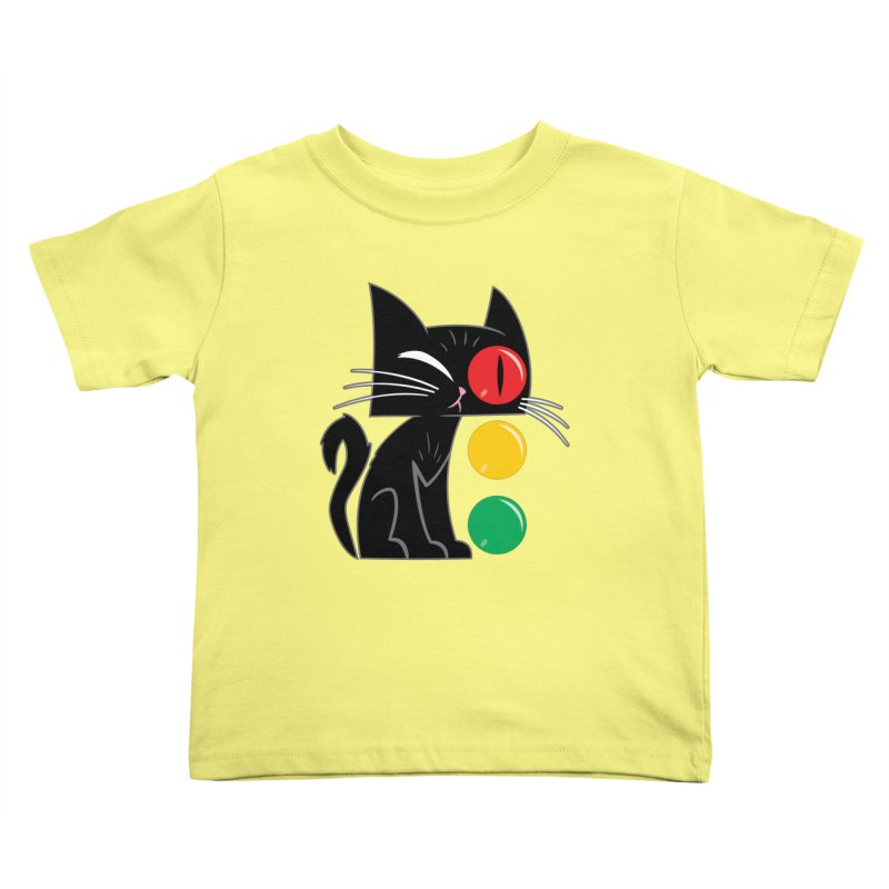 STOP! Cat Kids Toddler T-Shirt by Frankenstein's Artist Shop