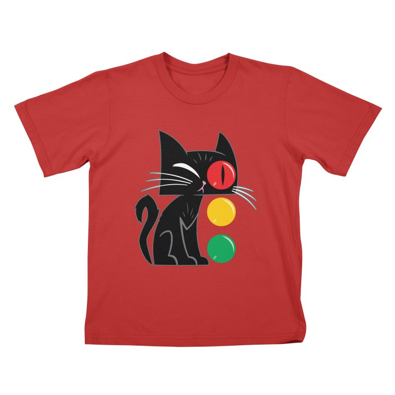 STOP! Cat Kids T-Shirt by Frankenstein's Artist Shop