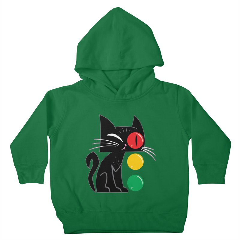 STOP! Cat Kids Toddler Pullover Hoody by Frankenstein's Artist Shop